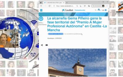 """Gema Piñeiro gana la fase territorial del """"Premio A Mujer Profesional Autónoma"""" en Castilla -La Mancha por WMC"""